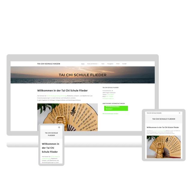 Webdesign - Referenz - Website - TaiChi Schule Flieder